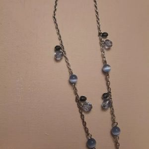 Jewelry - Dainty Silver Plated Cat Eye Bead Necklace